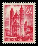 Sellos del Mundo : Europa : Alemania : Zona de ocupación francesa Renania Palatinado. 8 Catedral de Worms