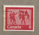 Stamps Canada -  Gente patinando