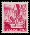 Sellos del Mundo : Europa : Alemania : Zona de ocupación francesa Renania Palatinado. 10 Catedral de Maguncia