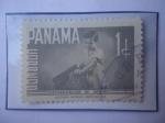 Stamps Panama -  Rehabilitación de Menores - Sello de 1 Centésimo de Balboa. Año 1961.