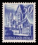 Sellos del Mundo : Europa : Alemania : Zona de ocupación francesa Renania Palatinado. 11 Catedral de Maguncia