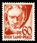Sellos de Europa - Alemania -  Zona de ocupación francesa Renania Palatinado. 12 Ludwig van Beethoven