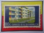 de America - El Salvador -  Edificios Multifamiliares Construidos por I.V.U. (1958)-Sello de 80Ct.Año 1958.