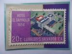 de America - El Salvador -  Hotel el Salvador (1958) - Sello de 20 Ct. Año 1958