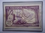 Stamps America - El Salvador -  1er. Centenario Departamento Chalatenango, 14 feb.1855-1955