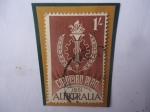 Stamps Oceania - Australia -  10°Aniversario del Plan Colombo de las Naciones Unidas - Colombo Plan Inaugurated 1951- Emblema.