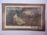 Stamps Oceania - Australia -  Frederick MCCubbin (1855-1917)Pitnor-En la Pista de Wallaby (1896)-Galería Art NSW