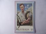 Stamps Oceania - Australia -  George Washington Lambert (1873-1930) pintor Aust.-Oleo: