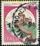 Stamps Italy -  Castillo de Asis