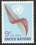 Stamps : America : ONU :  New York - Correo aéreo