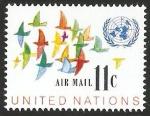 Stamps : America : ONU :  New York - Vuelo de aves