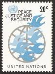 Stamps : America : ONU :  New York - Paz, justicia y seguridad