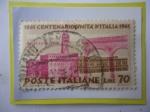 Stamps Italy -  Centenario de la Unificación de Italia (1861-1961)-Palacio de Vecchio-Florencia.