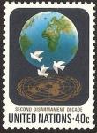 Stamps : America : ONU :  Símbolos, 20 años del desarme