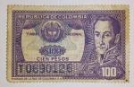 Sellos del Mundo : America : Colombia : Estampilla Timbre Nacional $100 Bolivar