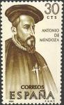 Sellos del Mundo : Europa : España : VII serie Forjadores de América. Antonio Mendoza (1490-1552)
