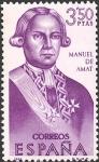 Sellos del Mundo : Europa : España : VII serie Forjadores de América. Manuel de Amat y Junyent (1704-1782)