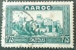 Stamps France -  MARRUECOS FRANCÉS 1934. Ouarzazar, Kasba Si Madani
