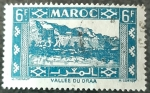 Stamps Europe - France -  MARRUECOS FRANCÉS 1946.Kasbah en el Valle del Draa