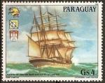 Stamps Paraguay -  19 Congreso UPU y Exposición Filatelica de Hamburgo