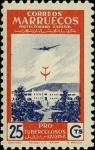 Sellos de Africa - Marruecos -  Marruecos 329 (aereo) **. Pro Tuberculosos, Sanatorio