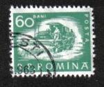 Stamps : Europe : Romania :  Vida diaria. Cosechadora