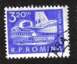 Stamps : Europe : Romania :  Vida diaria. Avión en el aeropuerto de Bucarest