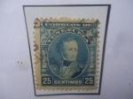 Stamps Venezuela -  Antonio José de Sucre - Sello de 25 Céntimos.Año 1904