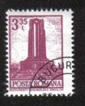 Stamps : Europe : Romania :  Definitivas - Edificios. Bucarest - Monumento a los héroes