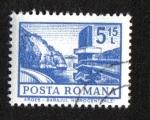 Stamps : Europe : Romania :  Definitivas - Edificios. Mayor - Presa hidroeléctrica