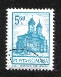 Stamps : Europe : Romania :  Definitivas - Edificios. Iasi - Iglesia de los Tres Jerarcas