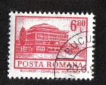 Stamps : Europe : Romania :  Definitivas - Edificios. Bucarest - Instituto Politécnico