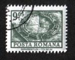 Stamps : Europe : Romania :  Definitivas - Edificios. Sarmizegetusa - Coliseo