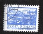 Stamps : Europe : Romania :  Definitivas - Edificios. Puerta de hierro - Central hidroeléctrica