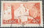 Stamps Europe - France -  MARRUECOS FRANCÉS 1955. Pueblo de Taffraout