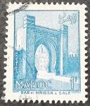 Stamps : Europe : France :  MARRUECOS FRANCÉS 1955. Puerta de Mrissa, Salé
