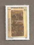 Stamps Africa - Mali -  Puerta de Senoufo del museo nacional