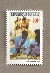 Stamps Africa - Mali -  Ceremonia del té en el desierto