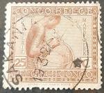 Stamps : Europe : Belgium :  CONGO BELGA 1923 Retratos indígenas. Mujer Vannerie