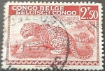 Stamps : Europe : Belgium :  CONGO BELGA 1942 Leopardo