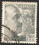 Stamps : Europe : Spain :  1053 - General Franco