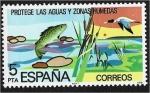 Stamps : Europe : Spain :  conservación natural. Conservación de ríos y humedales