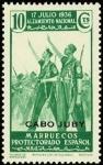 Sellos de Africa - Marruecos -  Cabo Juby 088 **. Alzamiento