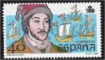 Stamps : Europe : Spain :  Discovery of America (1987). Juan de la Cosa (1460-1510)