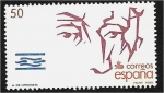 Stamps : Europe : Spain :  Descubrimiento de América (1988). Fray Andrés de Urdaneta
