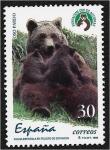 Stamps : Europe : Spain :  Fauna española en peligro 1996. Oso pardo (Ursus arctos)