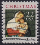 Stamps United States -  Navidad 1987