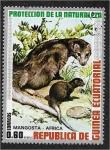 Stamps : Africa : Equatorial_Guinea :  Animales africanos. Mangosta de cola blanca (Ichneumon albicauda)