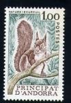 Stamps Andorra -  ardilla