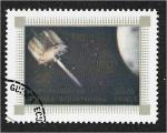 Stamps : Africa : Equatorial_Guinea :  Aviación, vuelo espacial y U.I.T. (I.T.U.). Satélite de comunicaciones